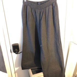 Linen Gap wide leg long pants